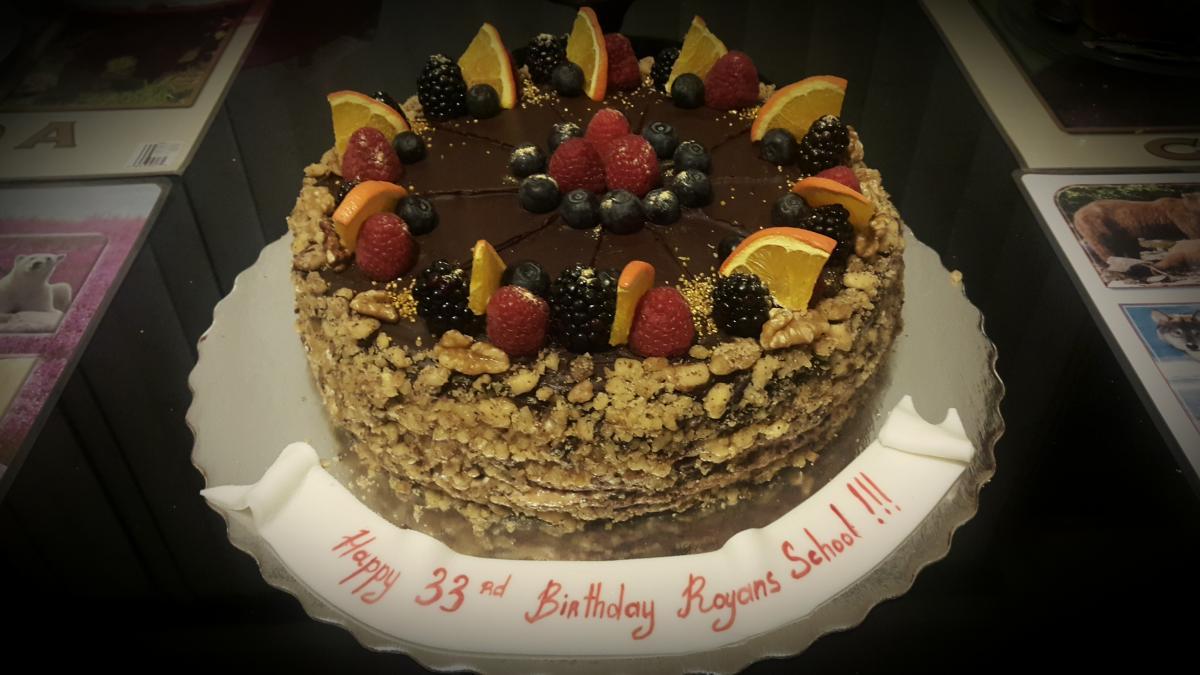 Royans School Anniversary Cake