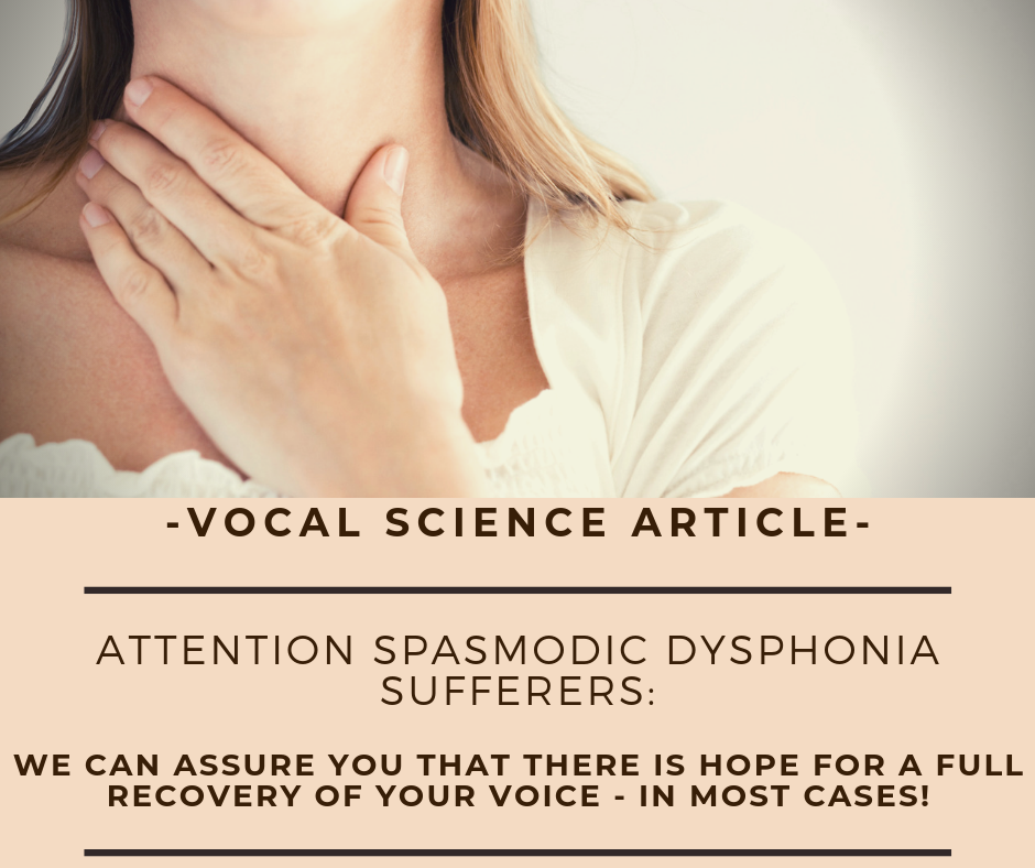 We can assure you that there is hope for a full recovery of your voice - in most cases!