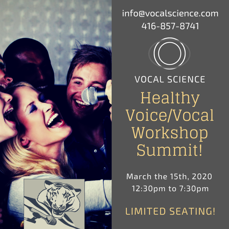 Vocal Workshops -  March 15th 2020