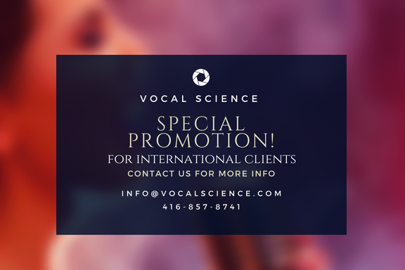Vocal Science - Special Promotion - International Clients