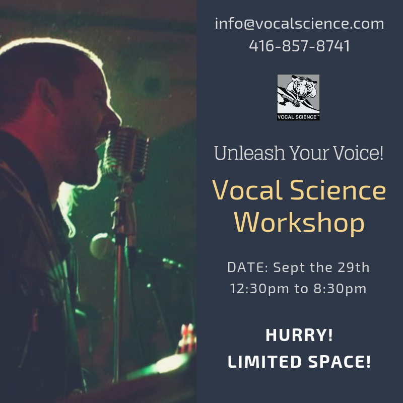 Vocal Workships - Vocal Science - Sep 29 2019
