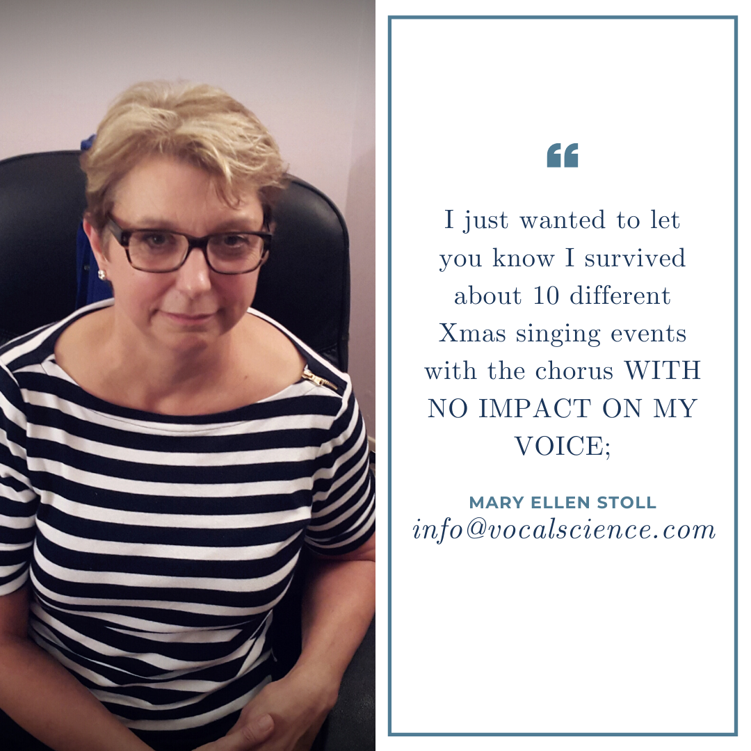 Voice Repair Testimonial - Mary Ellen