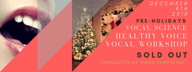 Vocal Science Workshop - December 9th 2018 - Sold out