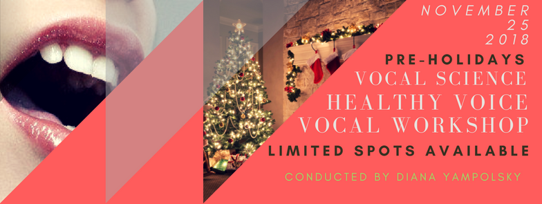 Vocal Science Vocal Workshop - November 25th